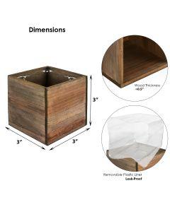 wood cube planter box