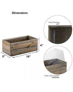 rectangular wood planters wholesale