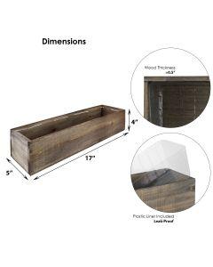 wood planter box 17 inches