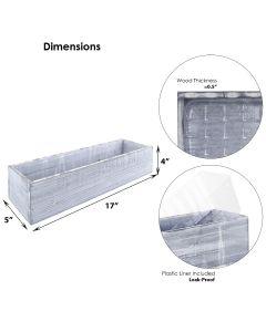 white wash wooden planter box