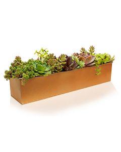 zinc rectangle galvanized metal planters