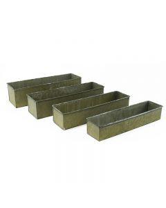 Corrugated Zinc Metal Galvanized Planter Set