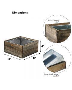 square wood planter box