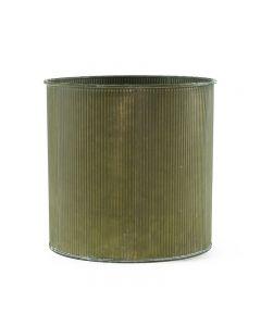 Corrugated Zinc Metal Galvanized Cylinder Planter Set