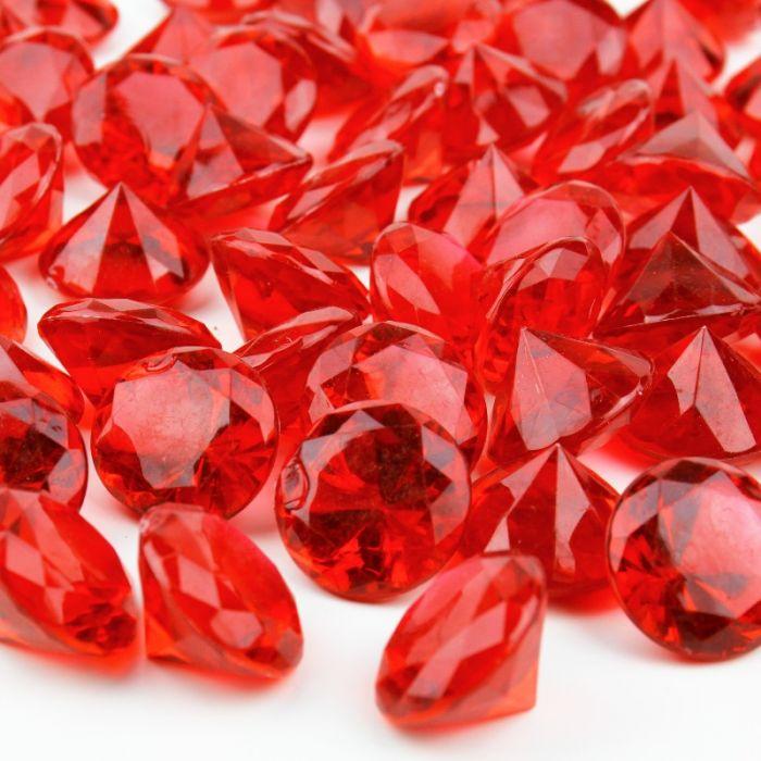 acrylic diamonds red