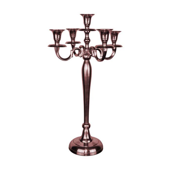 aluminum-andelabra-silver-rose-gold-MACL05/20RG