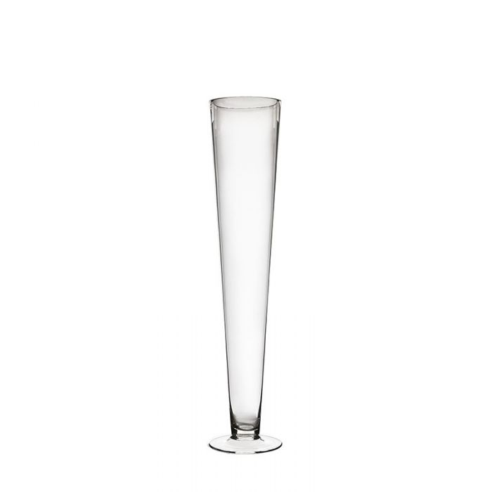 Clear Glass Trumpet Vase 24 inch