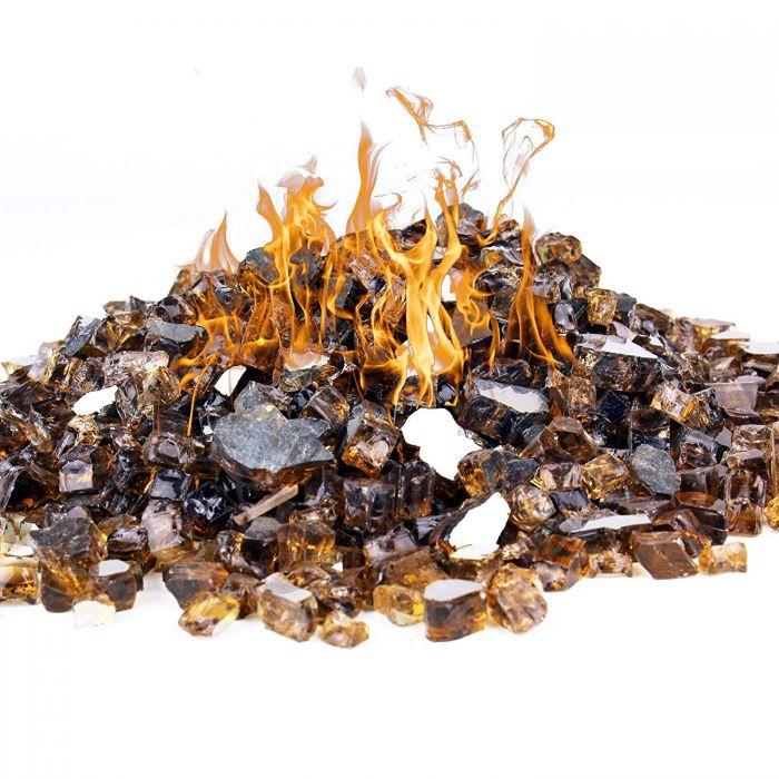 golden tea fire glass