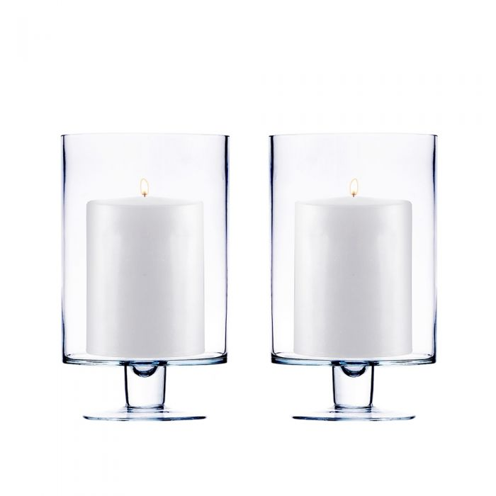 London Style Clear Glass Hurricane Candle Holder