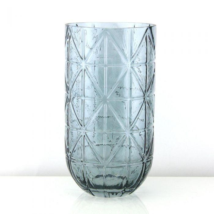 geometric glass vases smoke