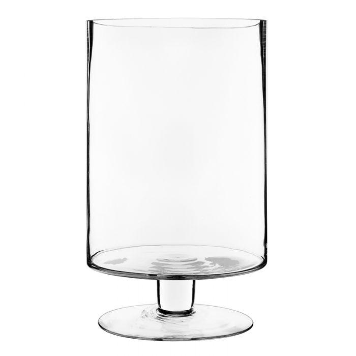 Stem Pedestal Glass Candle Holders H-13.5