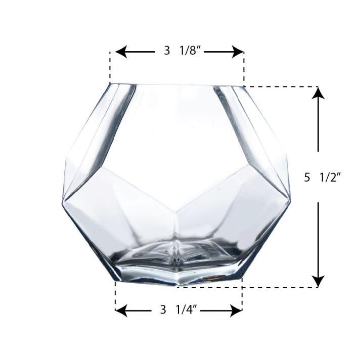 Geometric Terrarium Prism Bowl. H-6