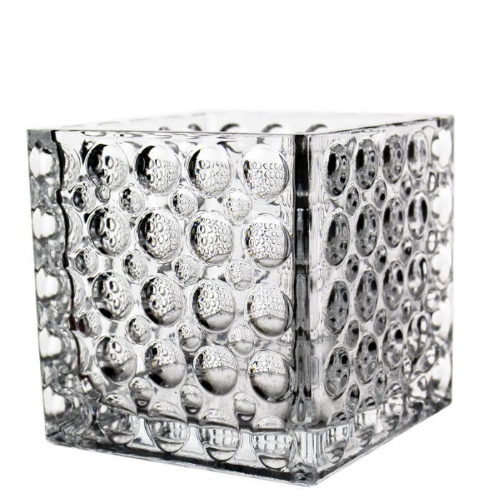 Glass Cube Vase H-6