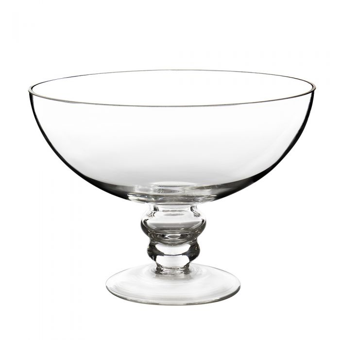 Glass Footed Compote Fruit Bowl. H-6