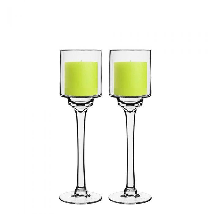 Set of 2 Hanging Crystal Stem Vase//Candle Holders