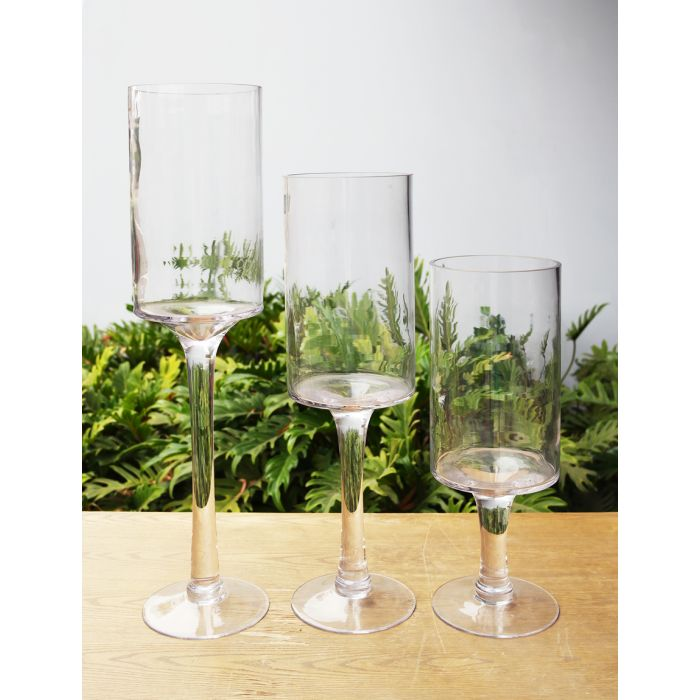 centerpiece-contemp-glass-footed-candle-holder-vase-gfc105-set