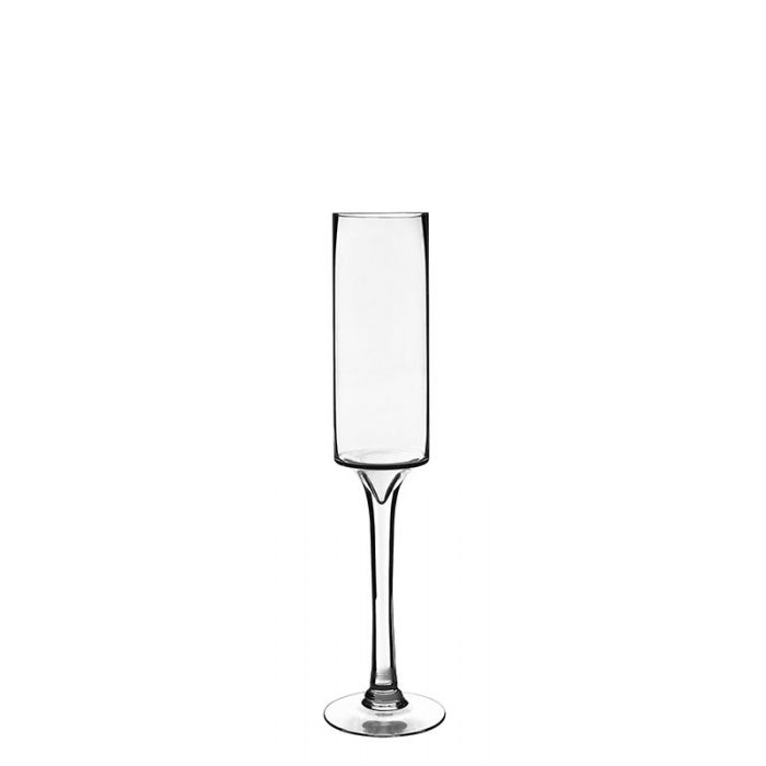 Long Stem Glass Candle Holder H-20 Open-3.5