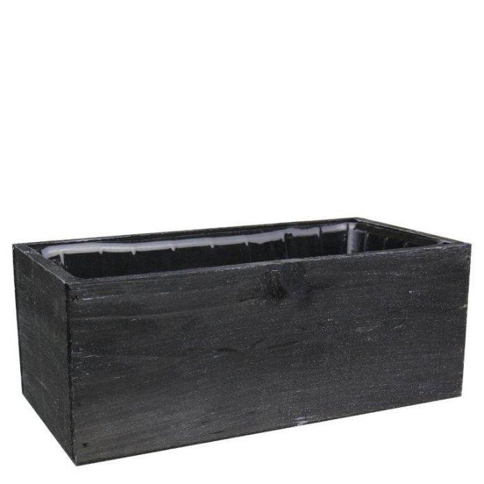 black wood planters