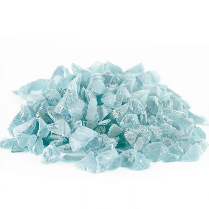 Vase Filler Sea Glass Frost Light Blue