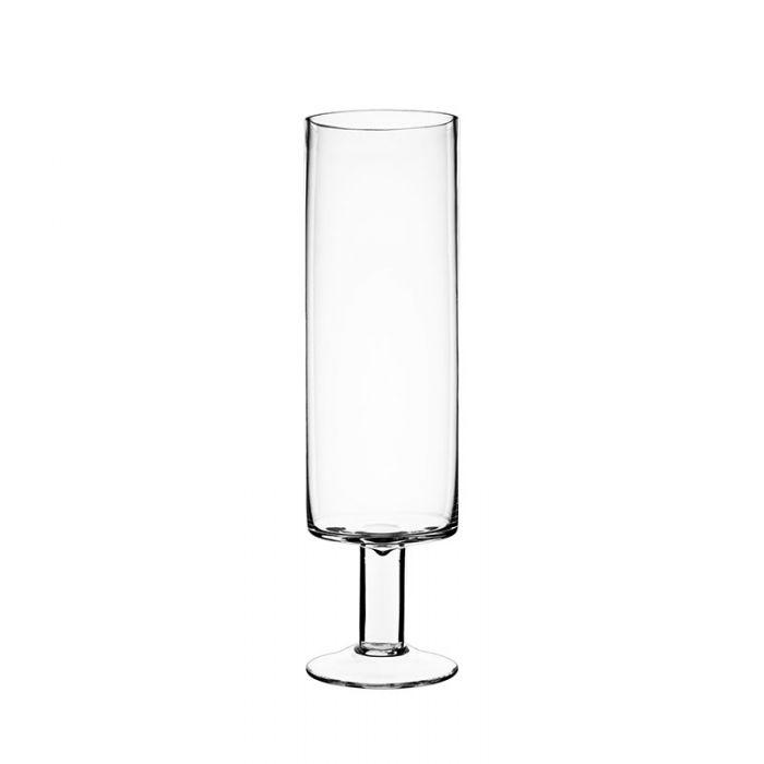 Short Stem Glass Candle Holder