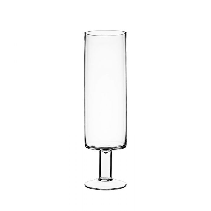Short Stem Glass Candle Holder