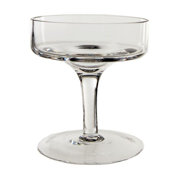 Holiday Short Stem Glass Candle Holder