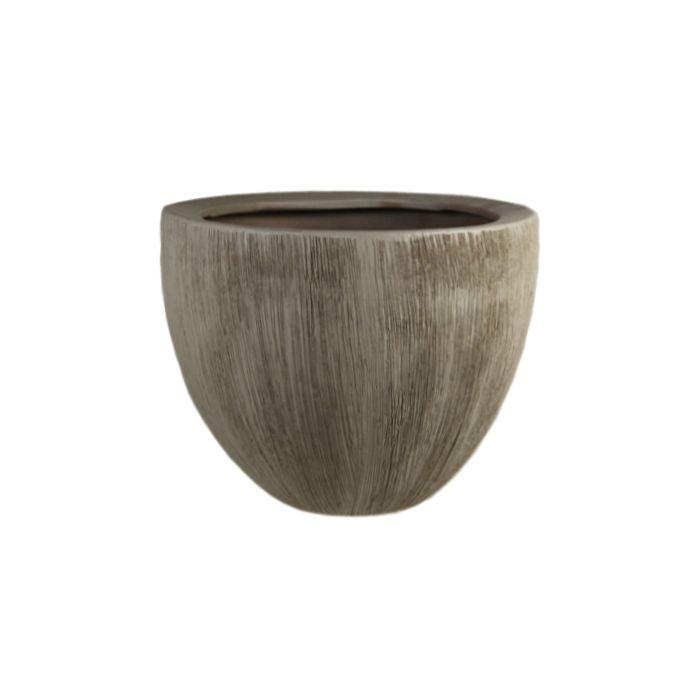 Ceramic Planter Pot Satin Brown H-7
