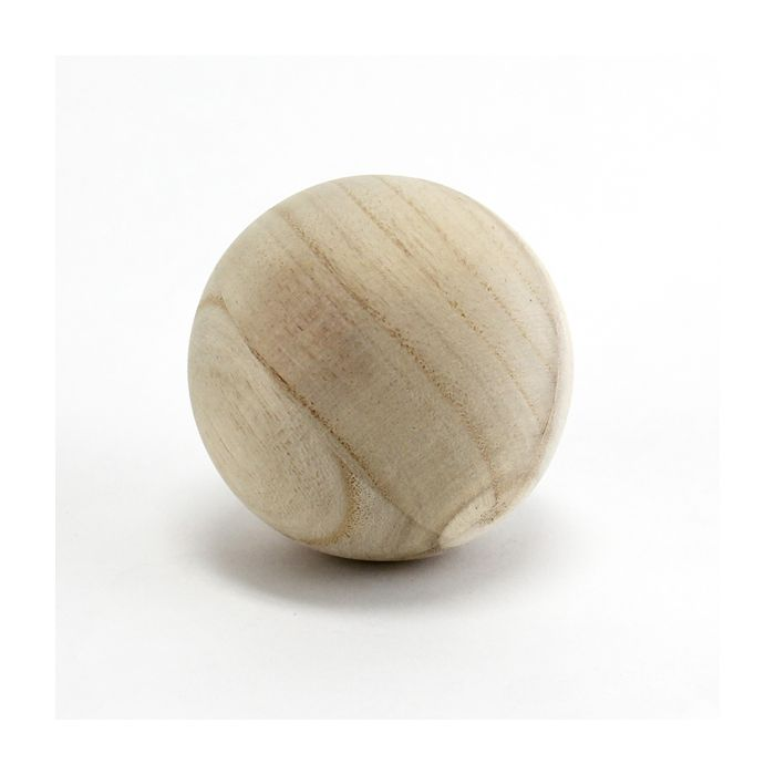 unfinished wood balls-4-inches