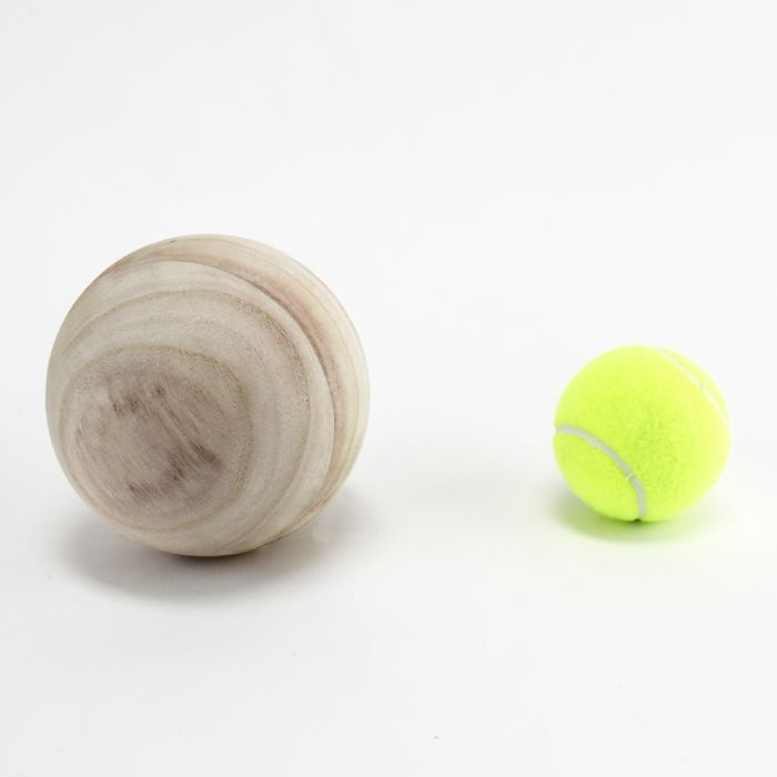 unfinished wood balls-4.5-inches