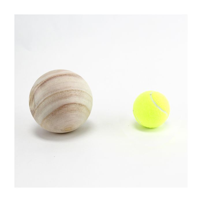 unfinished wood balls-5-inches
