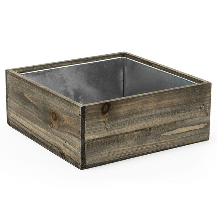 square wood planter boxes