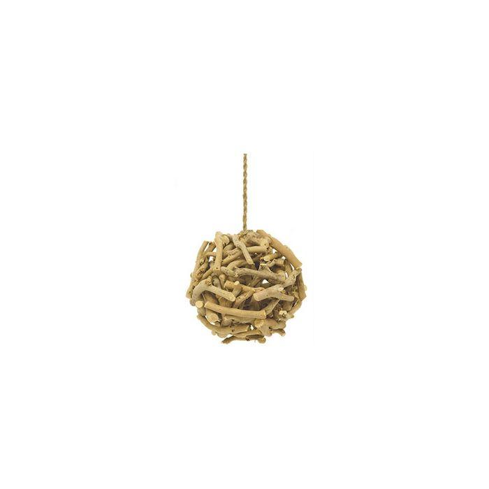 Natural Wood Hanging Branch Ball - D-7