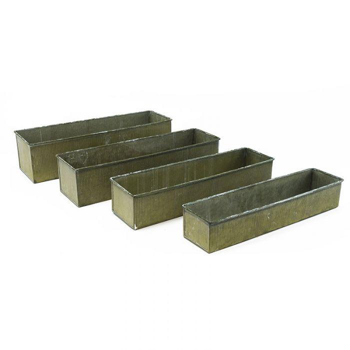 Wholesale Corrugated Zinc Metal Galvanized Planter Set