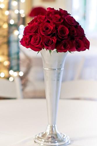 Valentine's Day Flower Arrangement Ideas with Trumpet Vases